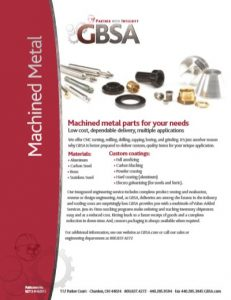 Machined Metal Parts Brochure