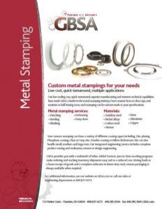 Metal Stamping Brochure